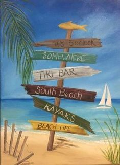 Painting Beach Scenes Canvases Trendy Ideas - Fushion News Beach Scene Painting, Summer Painting, Beach Canvas Paintings, Canvas Art, Art Plage, Pictures To Paint, Painting Pictures, Beach Art, Beach Photos