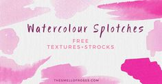 Following the success of my watercolor flowers, I decided to create I pack of free hand-painted watercolor backgrounds and splashes that…