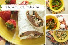 Five Minute Microwave Breakfast Burrito, 261 calories, 6 PointsPlus
