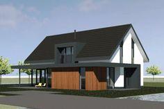 Nieuwbouwwoning   Aalsmeer - Ontwerp van AL architecten voor een nieuw te bouwen vrijstaande woning aan de Machineweg in Aalsmeer.
