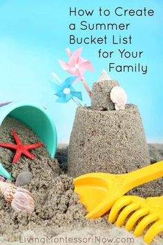 Roundup post with lots of creative ideas for summer bucket lists and activity lists