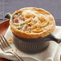 Ham & Cheese Pot Pie Recipe from our friends at Philadelphia Cream Cheese