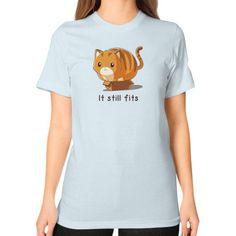 If it fits I sits Unisex T-Shirt (on woman)