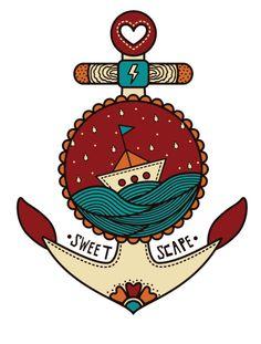 Ilustração desenvolvida para a marca Sweet Scape de São Paulo.