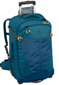 https://www.breakingfree.co.uk/product/Eagle-Creek_Eagle-Creek-Actify-Wheeled-Backpack-26_2112_0_21_2.html The Actify Wheeled Backpack 26 is a full-sized travel bag that converts from a rolling bag to a backpack, complete with fully padded suspension system for comfortable carry.