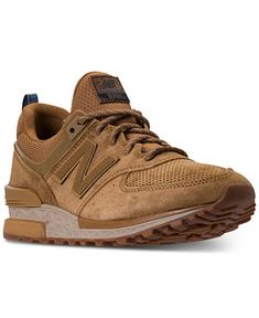 bb8f3f31159a New Balance Men s 574 Suede Casual Sneakers from Finish Line   Reviews -  Finish Line Athletic Shoes - Men - Macy s