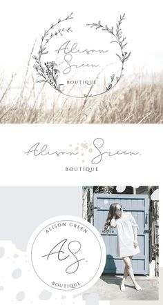 I'm not completely opposed to script style font but this one is too delicate and a bit hard to read. Flower Shop Design, Design Floral, Graphic Design, Design Logo, Logo Boutique, Logo Floral, Elegant Logo Design, Bullet Journal Aesthetic, Branding