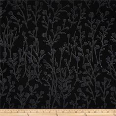 Black, White & Currant 6 Wildflower Black from @fabricdotcom  Designed by Color Principle for Henry Glass, this fabric is perfect for quilting, apparel and home decor accents. Colors include black and shades of grey.