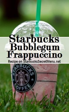 Bubble Gum frappuccino ★–––––––––––––––––––––––★ Strawberries and Creme Frappuccino No classic syrup (unless you like it sweet) Add Raspberry syrup pump for a tall, 2 pumps for a grande, 3 pumps for a venti) Frappuccino Recipe, Starbucks Frappuccino, Starbucks Coffee, Starbucks Food, Healthy Starbucks, Starbucks Secret Menu Drinks, Starbucks Recipes, Starbucks Hacks, Coffee Recipes