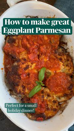 Eggplant Dishes, Baked Eggplant, Eggplant Parmesan, Eggplant Recipes, Vegetable Recipes, Vegetarian Recipes, Cooking Recipes, Healthy Recipes, Italian Dishes