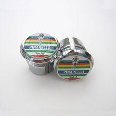 Vintage Style Caps Repro Chrome Racing Bar Plugs Guerciotti