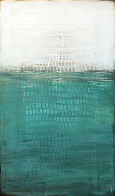 """Au fond de l'océan, Karine Léger   Acrylique sur toile– 2012  36"""" x 60"""""""
