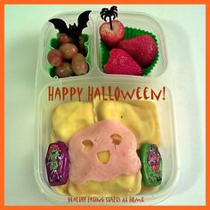 Ghostly Halloween Bento Lunch for the big boys #easylunchboxes #cuteZcute #Halloween #bento #ghost #healthyeatingstartsathome