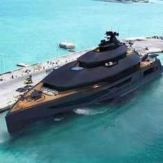 Matte Black Yacht.👏 Double tap if you think this is awesome  Follow @made4motivation for more. DM for Business/Growth Mentoring. DM for Credits  Tired of being broke, want to make $7500,- a month while traveling the world? Click link on bio.💸