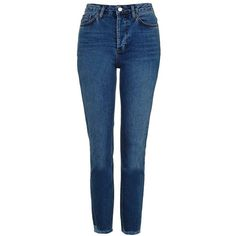 Women's Topshop Raw Hem Straight Leg Jeans ($80) ❤ liked on Polyvore featuring jeans, raw hem jeans, blue jeans, stretch denim jeans, mid rise straight leg jeans and mid-rise jeans