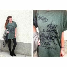 NO WAR by fashionamy on Heuseler Fashion Accessories, War, T Shirts For Women, Unisex, Tees, Womens Fashion, How To Make, Shopping, Clothes