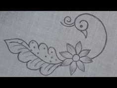Peacock Embroidery Designs, Hand Embroidery Patterns Flowers, Border Embroidery Designs, Basic Embroidery Stitches, Hand Embroidery Videos, Embroidery Motifs, Embroidery Transfers, Saree Painting Designs, Peacock Design