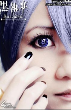 Looks a bit too feminine but wanted to show the contact lens kuroshitsuji cosplay - ciel phantomhive 10 by jl Ciel Cosplay, Cosplay Anime, Cosplay Makeup, Best Cosplay, Cosplay Outfits, Cosplay Ideas, Awesome Cosplay, Black Butler Cosplay, Black Butler Ciel