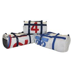 recycled sailcloth duffel bags