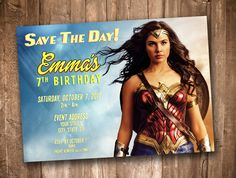 A personal favorite from my Etsy shop https://www.etsy.com/listing/546888353/wonder-woman-2017-party-invitation