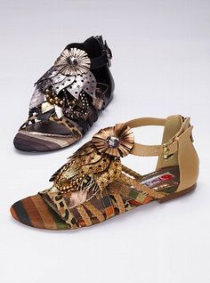 Embellished Gladiator Sandal - Oh, yeah! The black ones, please.