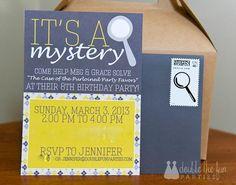 Nancy Drew Birthday Party invitation