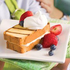 Cream-Filled Grilled Pound Cake | MyRecipes.com