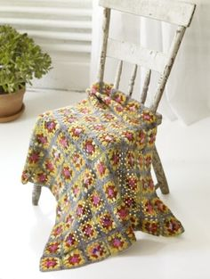 Try using a sock weight yarn for your next afghan project for something light for spring and summer months.