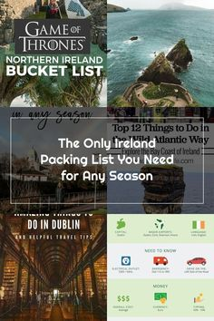 Wondering what to wear in Ireland? I got you with this ultimate Ireland packing list for any season. Get my tips for what to pack for Ireland in the Summer, Spring, Winter, and Fall! Stuff To Do, Things To Do, What To Pack, I Got You, Northern Ireland, Dublin, What To Wear, Travel Tips, Coast