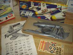 Sabre Jet, Old Models, Covered Boxes, Plastic Models, Scale Models, Cover Art, Kit, Hobbies, Aircraft