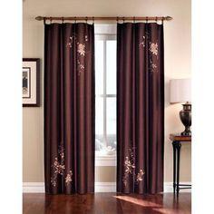 CHF Industries Alessandra Rod Pocket Curtain Panel Cinnabar - 1Z46010ACB, CHFI027-1