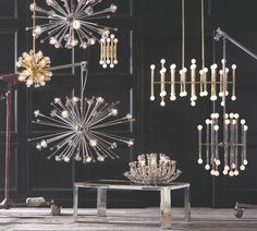 Modern and intricate lighting fixtures by Jonathan Adler
