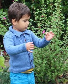 Hand Knitted Boys Cardigan - Various sizes and colours £25.00
