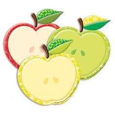 Color My World Assorted Apple Paper Cut-Outs, 36 Per Pack, 6 Packs, Multicolor September Bulletin Boards, Paper Magic, Fun Games For Kids, Spelling Words, Paper Cutting, Party Favors, Apple, Shapes, Cut Outs