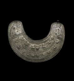 An Urartian silver pectoral. Circa 7th Century B.C.