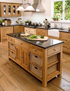 Orchard Oak kitchen range