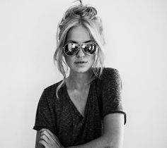 Tossed up hair... pretty / hipster / sunglasses / cute / blonde