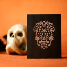 """""""Day of the dead"""" card."""