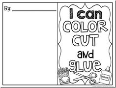 I can color, cut and glue book FREEBIE. This would be so helpful if more kids could practice these skills before school starts! Glue bottles are so hard if kids have not had practice!
