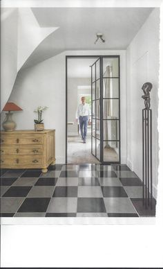 Image result for black frame window 1940s steel Bedroom Doors, 1940s, Porch, Sweet Home, Windows, Flooring, Steel, Mirror, Interior