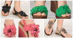 In love with flowers <3 http://www.koketna.com/damski-obuvki/sandali #sandals