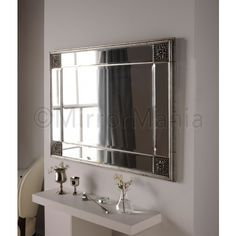 Sophie Bevelled Silver Wall Mirror - All Mirrors - Mirrors