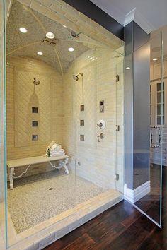 Large spa shower