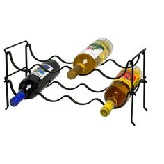 Spectrum Ashley Steel 4 Bottle Stacking Wine Rack - Black