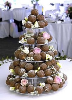 Truffle Wedding Cake! Easy for the bride & groom to feed each other