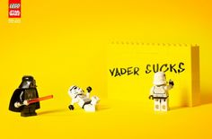 """Students Diego Mourão et Gustavo Dorietto in Sao Paulo came up with this scene -- Vader Sucks! -- as part of Lego's """"Make your own story"""" campaign."""