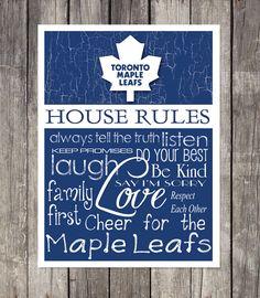 TORONTO MAPLE LEAFS House Rules Art Print by fanzoneimprintz