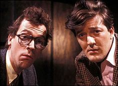 A Bit Of Fry & Laurie. Image shows from L to R: Hugh Laurie, Stephen Fry. Comedy Duos, Comedy Tv, Jeeves And Wooster, Dominic West, The Mighty Boosh, Peter Gabriel, Hugh Laurie, British Comedy, Perfect People