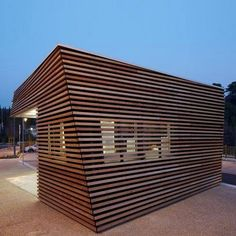 dezeen Parking Attendants Pavilion by JeanLuc Fugier 03 Timber Cabin to House Parking Ticket Machine by Jean Luc Fugier Wood Pavilion, Architecture Résidentielle, Installation Architecture, Chinese Architecture, Futuristic Architecture, Timber Cabin, Timber Roof, Wood Facade, Kiosk Design
