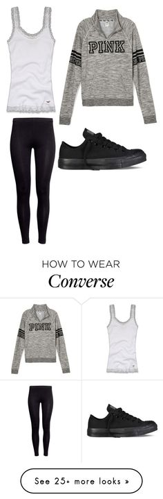 """""""Untitled #6152"""" by hopefulstyle on Polyvore featuring H&M, Converse, Hollister Co., converse, VictoriasSecret, hollister and handm"""